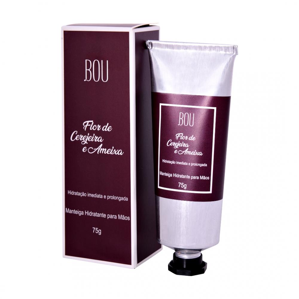 Manteiga Hidratante Mãos Flor de Cerejeira e Ameixa 75g – Bou Cosméticos