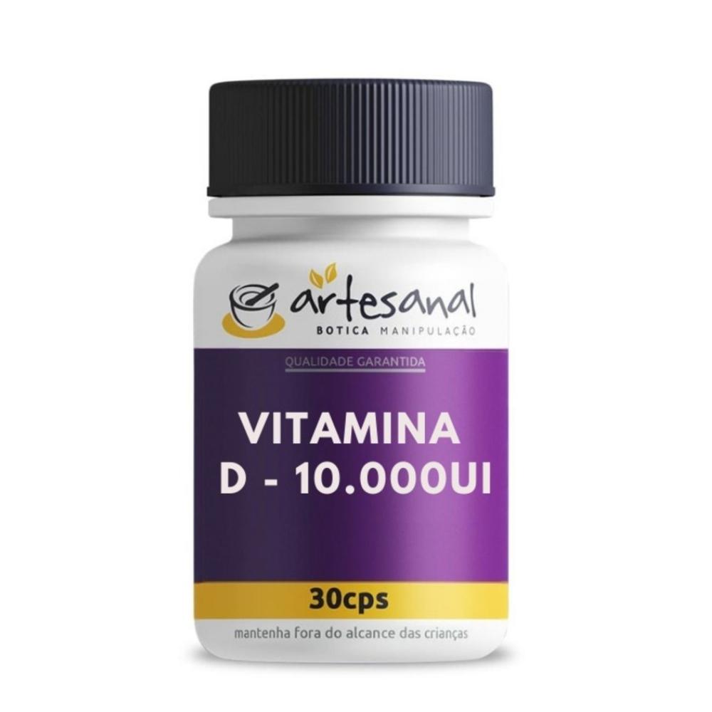 Vitamina D 10.000 UI 30 Cápsulas