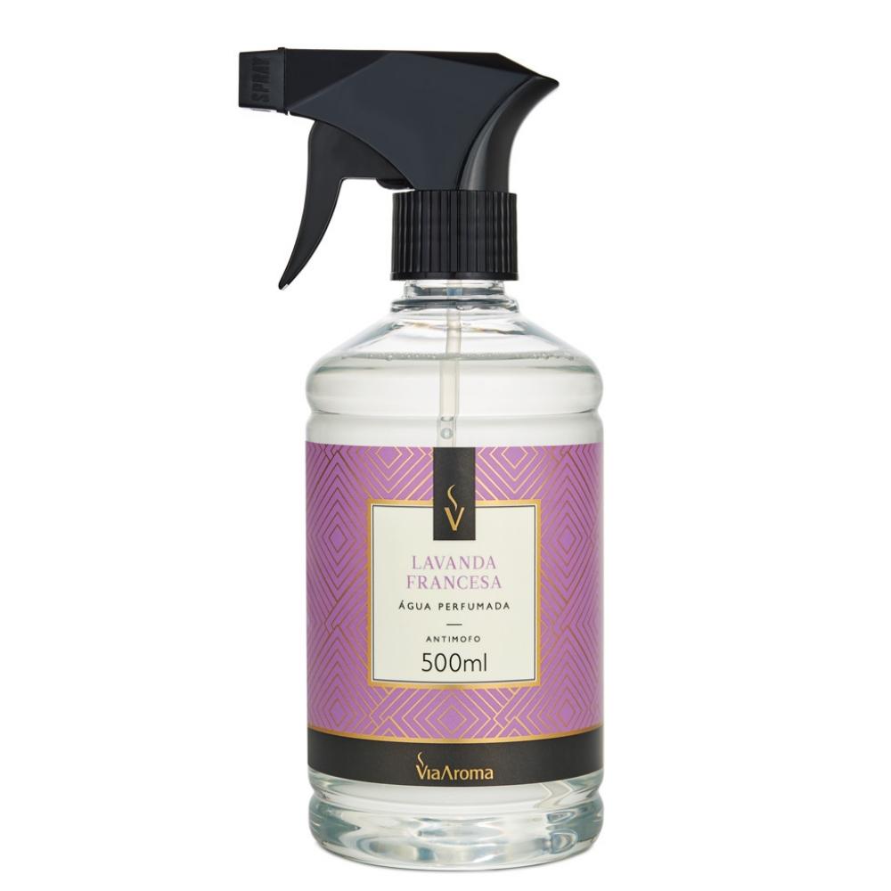 Água Perfumada para Tecidos Lavanda Francesa 500ml - Via Aroma