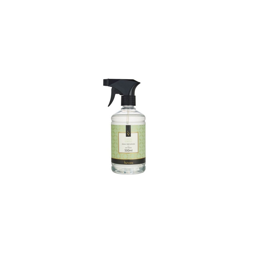 Água Perfumada para Tecidos Capim Limão 500ml - Via Aroma