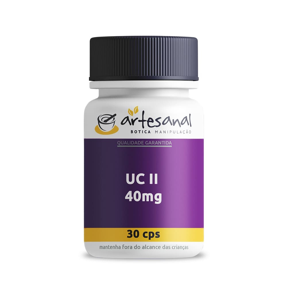 Colágeno UC II 40mg - 30 Cápsulas