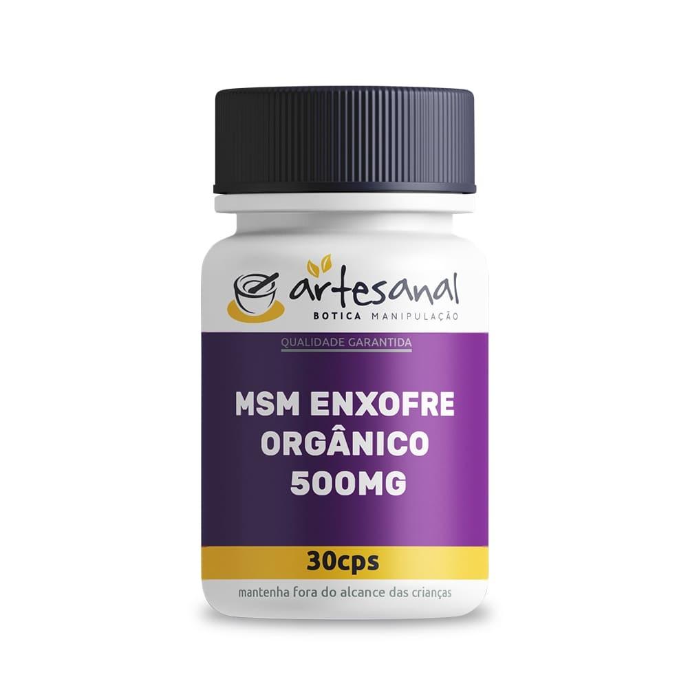 Msm Enxofre Orgânico 500mg - 30 Cápsulas