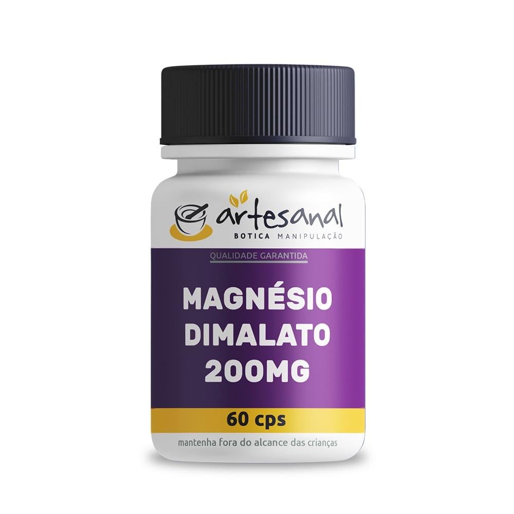 Magnésio Dimalato 200mg - 60 Cápsulas