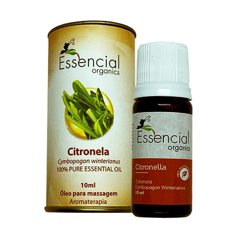 Óleo Essencial de Citronela - Essencial Organics - 10ml