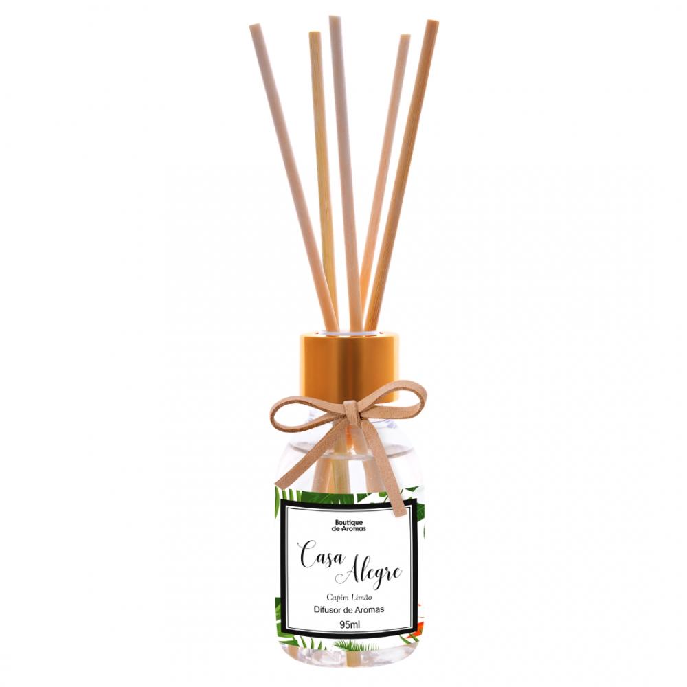 Difusor de Aromas Casa Alegre Capim Limão 95ml - Boutique De Aromas