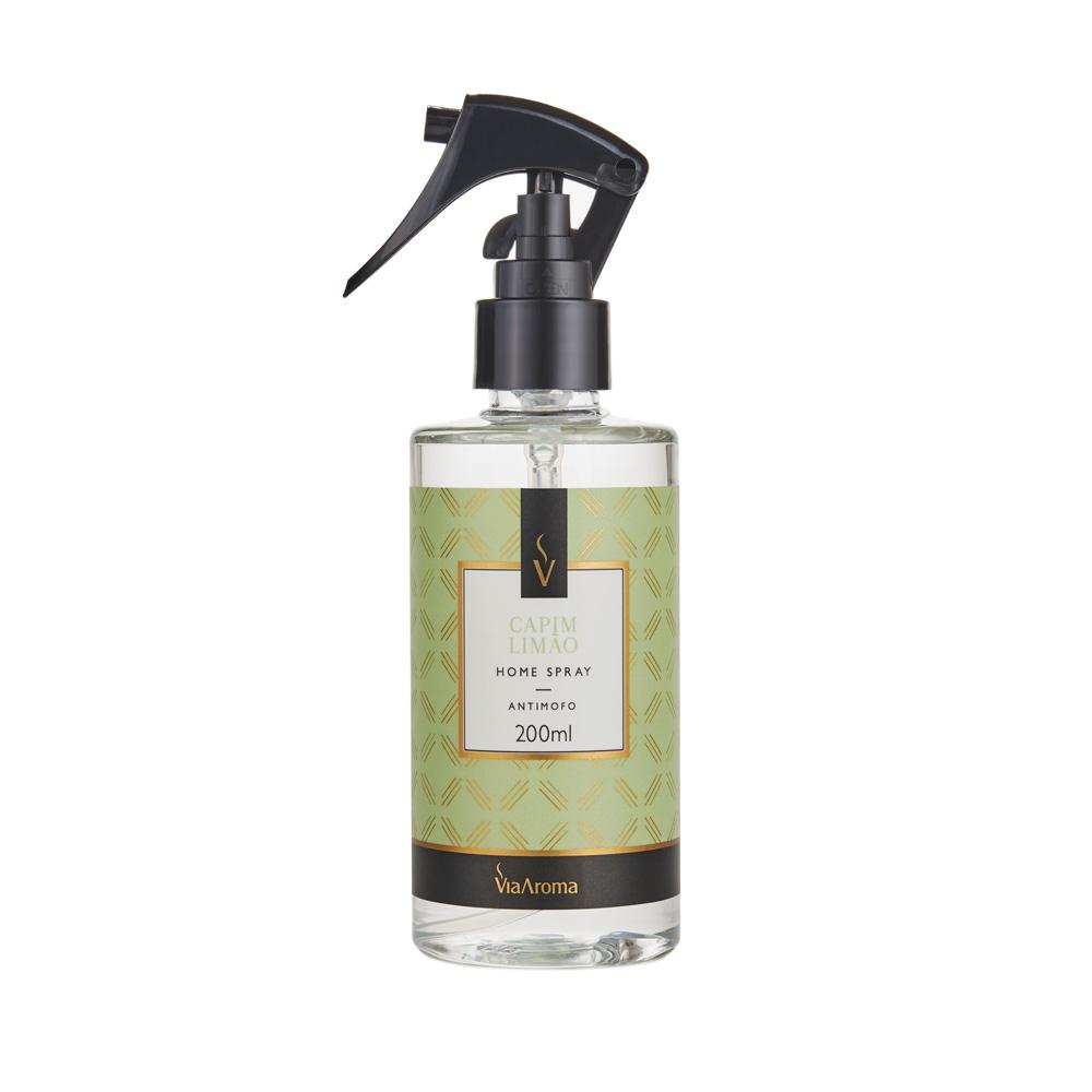 Home Spray Capim Limão 200ml - Via Aroma