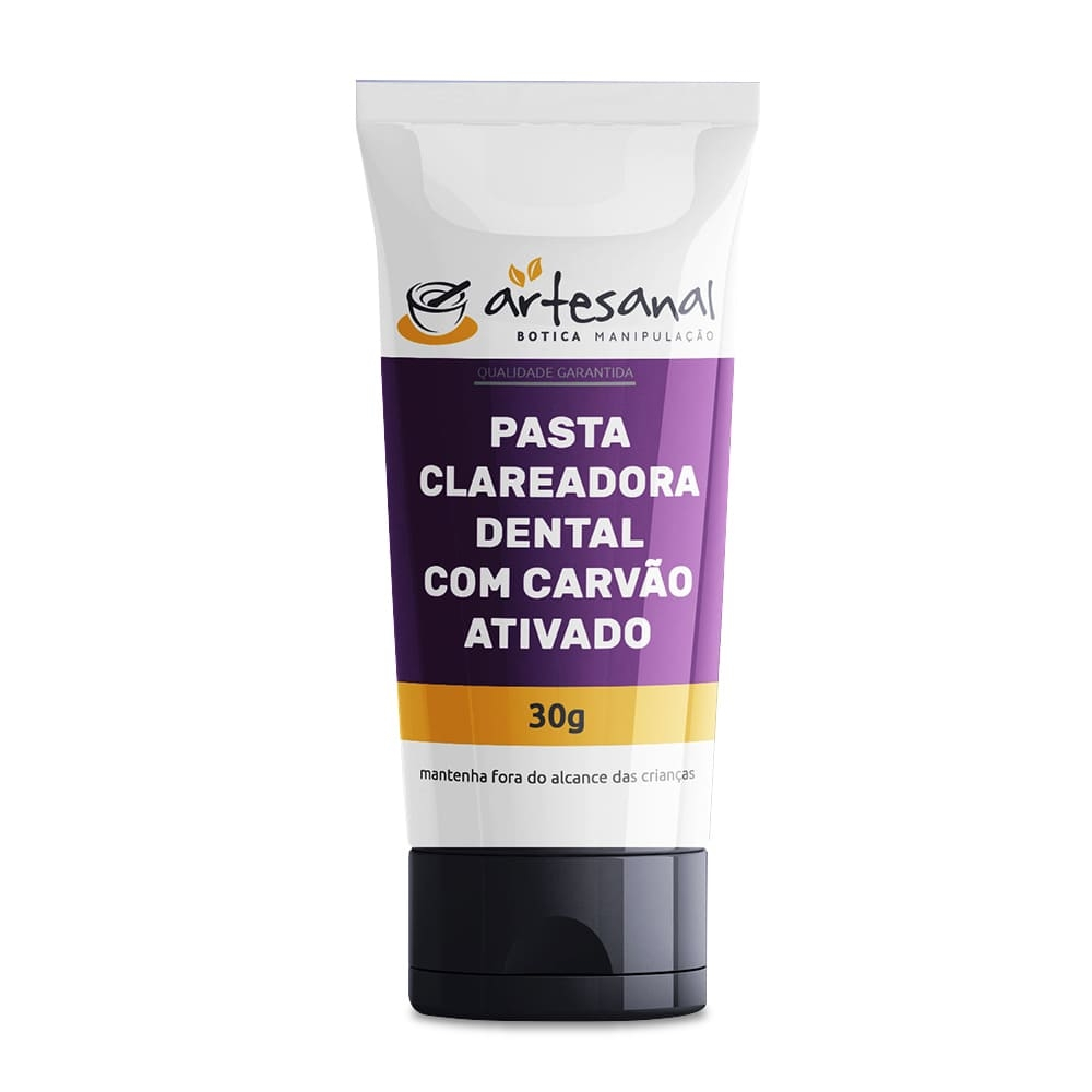 Pasta Clareadora Dental Com Carvão Ativado - 30g