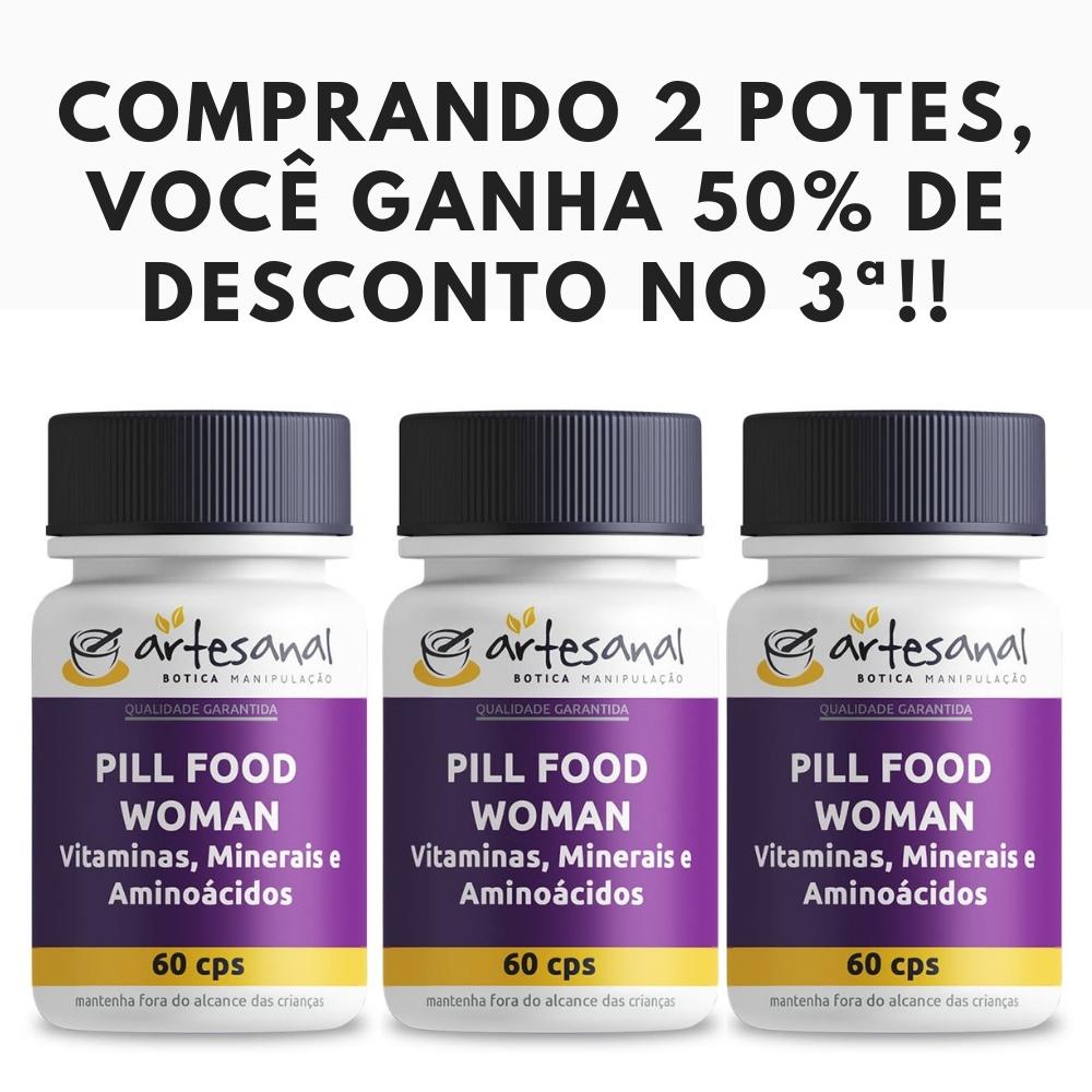 Kit 3 Pill Food - 60 Cápsulas