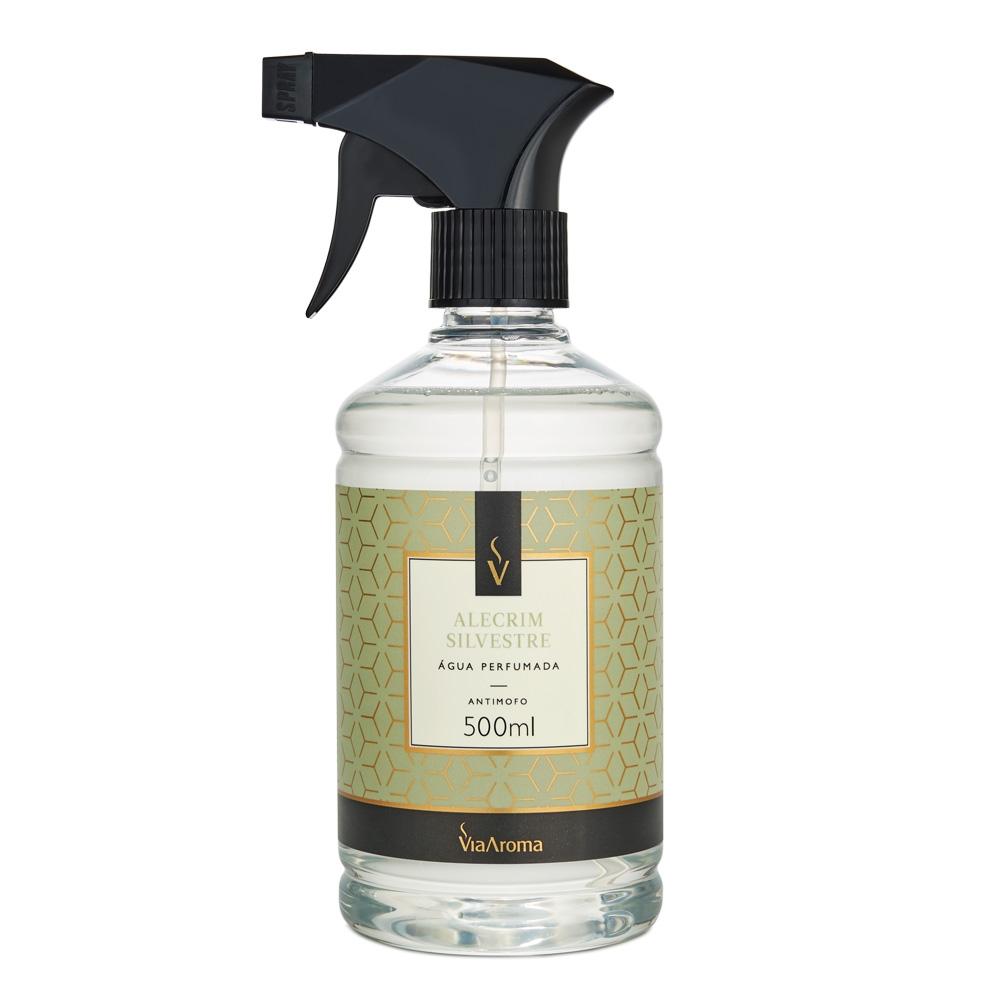 Água Perfumada para Tecidos Alecrim Silvestre 500ml - Via Aroma
