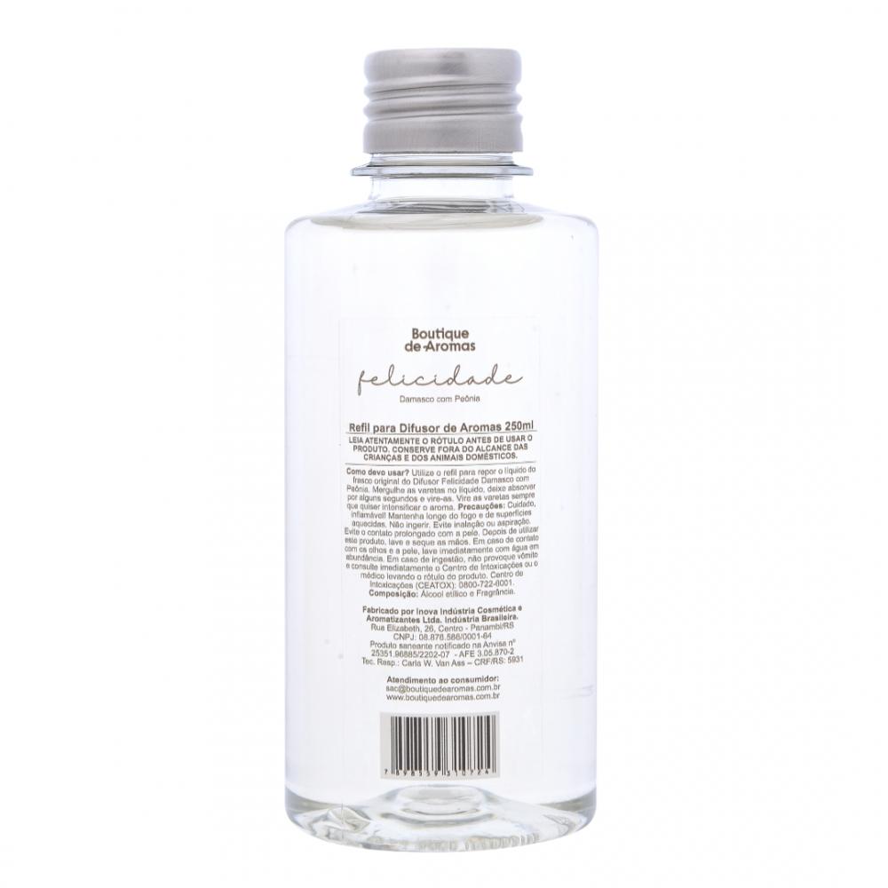 Refil para Difusor de Aromas Felicidade 250ml - Boutique De Aromas