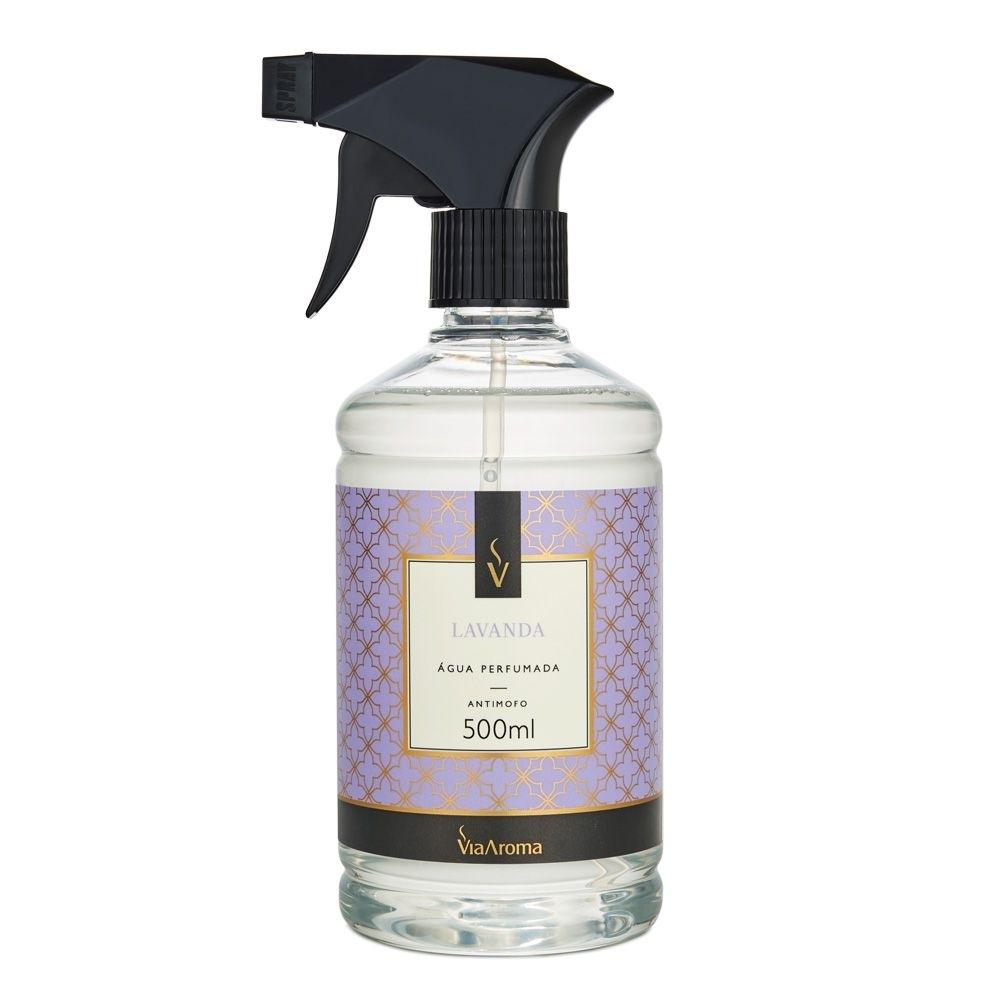 Água Perfumada para Tecidos Lavanda 500ml - Via Aroma