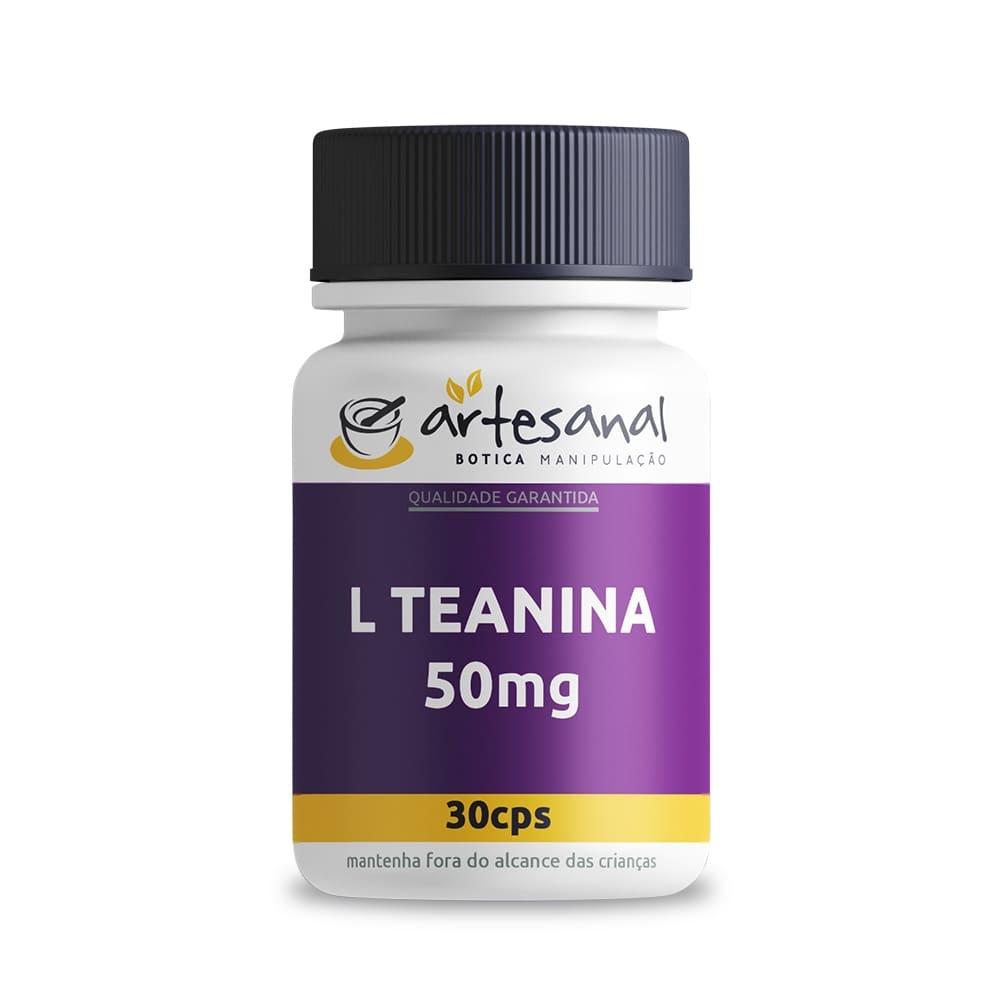 L-Teanina 50mg - 30 Cápsulas
