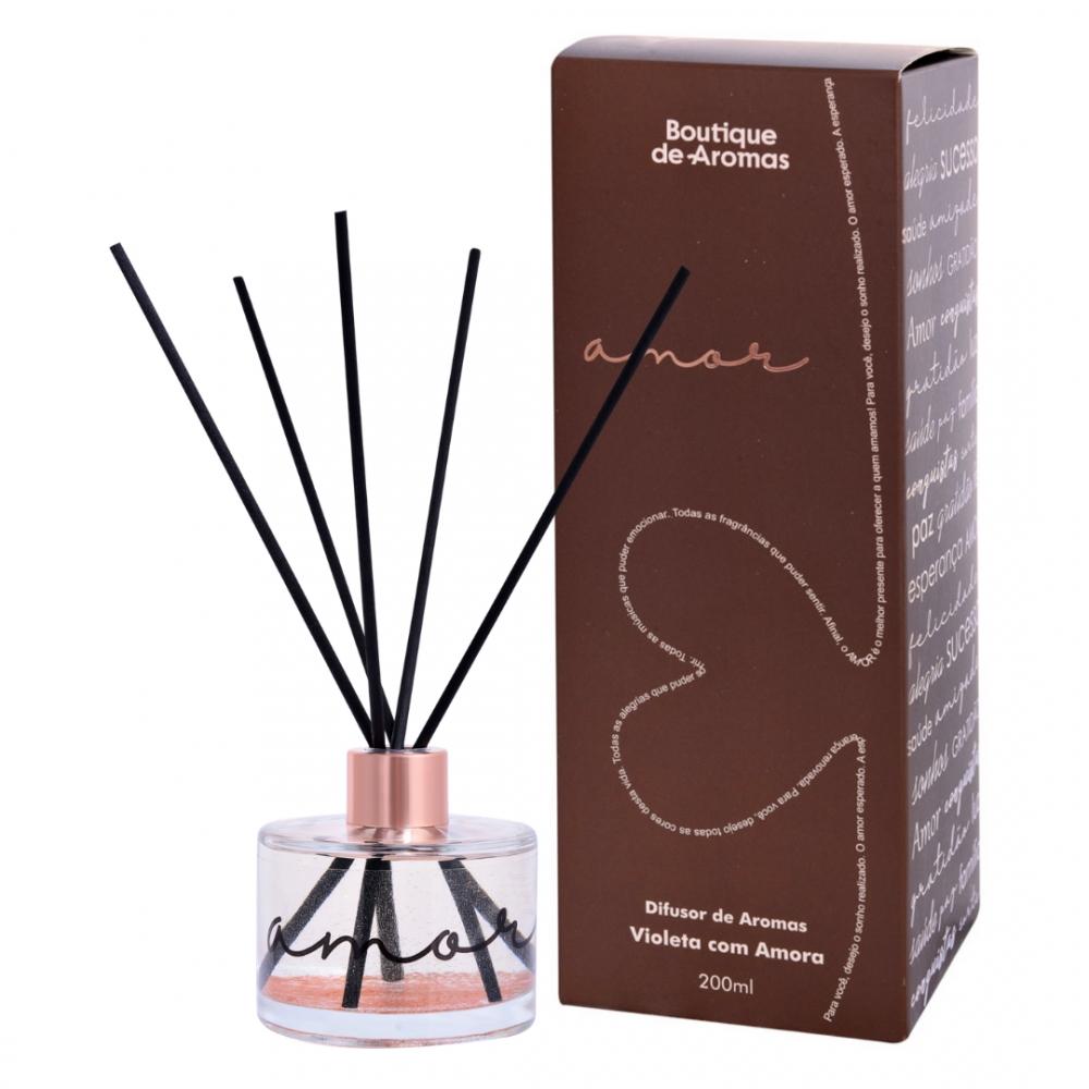 Difusor de Ambiente Amor Violeta Com Amora 240ml - Boutique De Aromas