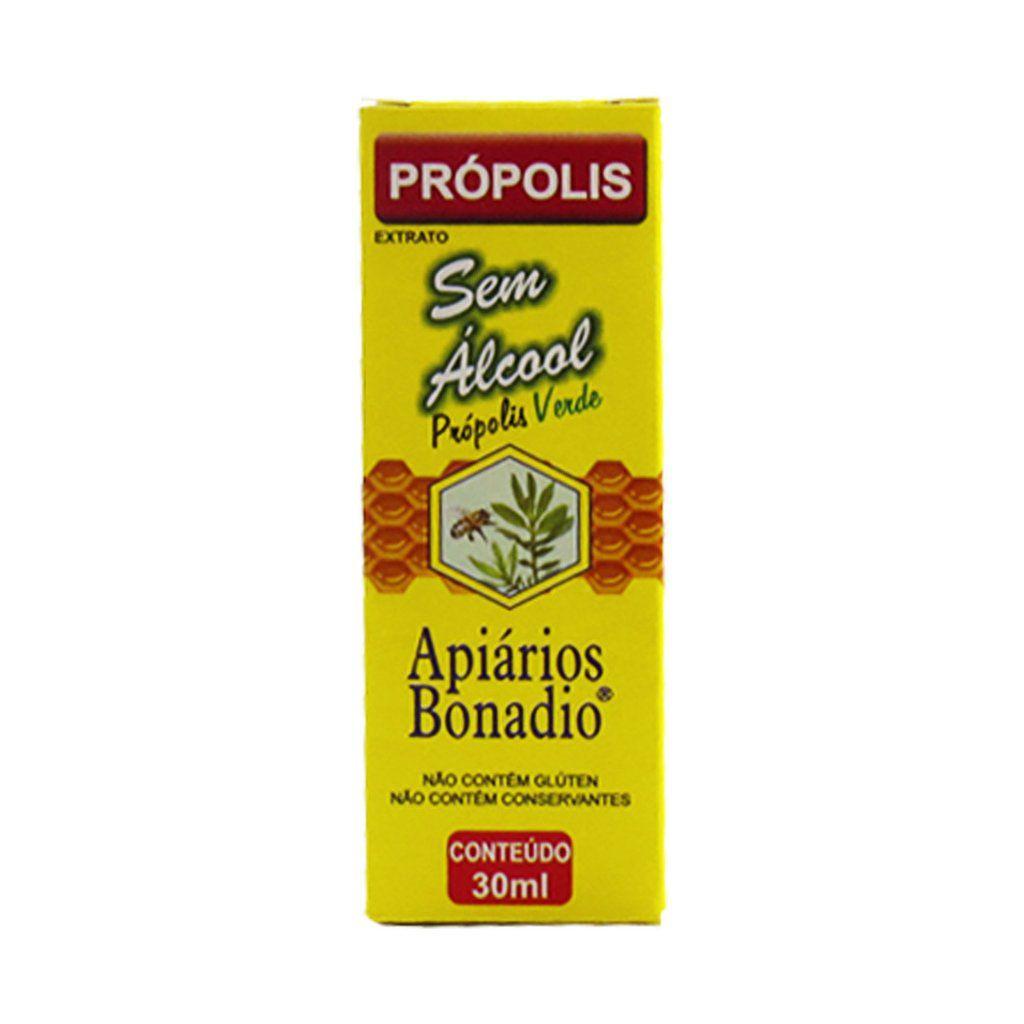 Extrato de Propolis Verde - Sem Álcool - Apiarios Bonadio - 30ml